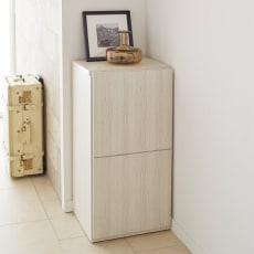 【レンタル商品】Donner/ドンナー スリムシューズボックス・靴箱 幅40cm奥行37cm高さ80cm