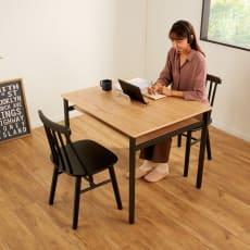 【レンタル商品】おうちの時間が快適になるオーク天然木ブルックリンダイニングシリーズ テーブル・幅90cm