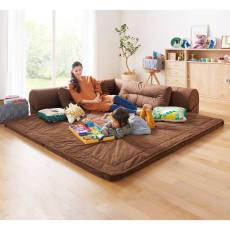【レンタル商品】包まれるしあわせのクッション付きごろ寝ソファ 大(190×190cm)