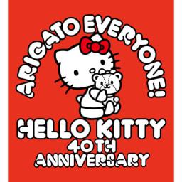 乾度良好ハローキティアニバーサリー バスマット ハローキティ40周年記念