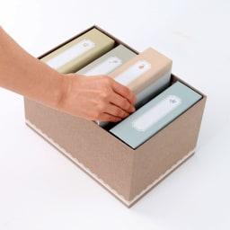 400写真・はがきアルバム ナチュラルスタイル(フォトアルバム4冊セット) 4冊まとめて収納できるボックス付。