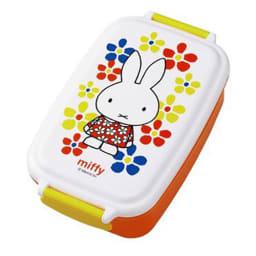 miffy/ミッフィー ランチ3点セット ランチボックスはベーシックな角型タイプで便利な仕切付き。