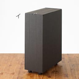 バスク インテリアに映えるキャスター付きダストボックス/ゴミ箱 容量45L(2分別対応可能) イ:ブラック