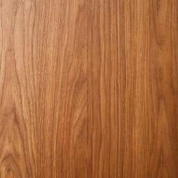 バスク インテリアに映えるキャスター付きダストボックス/ゴミ箱 容量45L(2分別対応可能) (ア)素材アップ ウォールナット風のキレイな木目柄