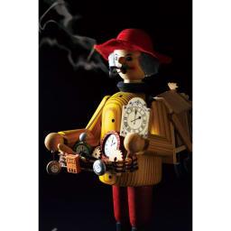 ドイツ製手作りミニパイプ人形 働く人々[kuhnert/クーネルト] 胴体の中に、コーン型のお香を入れて焚くと、人形の口からお香の香りと共にけむりがゆっくりと広がります。