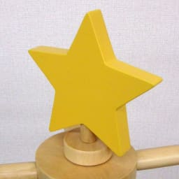 くるくる回転アニマルポールハンガー (ウ)星