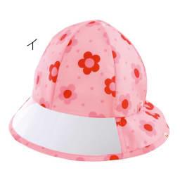 miki HOUSE(ミキハウス)/車プッチー&お花うさこ レインハット|帽子 イ:ピンク