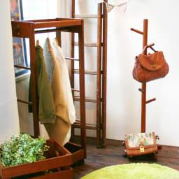 ネイキッズ クラシック ポールハンガー バッグやストール、帽子などの見せる収納にはピッタリ!