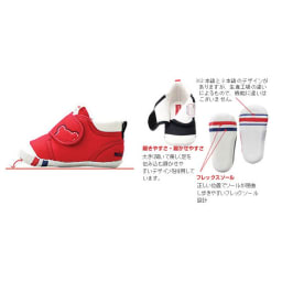 miki HOUSE(ミキハウス)/キッズデザイン賞受賞ベビーシューズ(12-13.5cm)