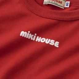 miki HOUSE(ミキハウス)/ロゴプリントシンプル半袖Tシャツ(80-130cm) ミキハウスロゴ