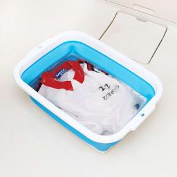 薄く畳める洗い桶 つけ置き洗いに