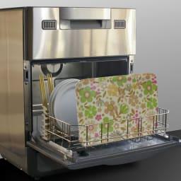 橋本達之助工芸/レンジで使える北欧柄トレー 日本製 (イ)食後は食洗機でカンタン洗浄!