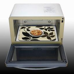 橋本達之助工芸/レンジで使える北欧柄トレー|日本製 (エ)トレーに食器をのせてレンジでチン!熱い食器に触れずに取り出せます。