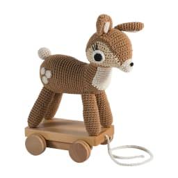 sebra(セバ)/いっしょに行こう編みぐるみプルトイ|おもちゃ (エ)こじか