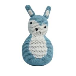 sebra(セバ)/手編み起き上がりこぼし|おもちゃ (ア)ブルー