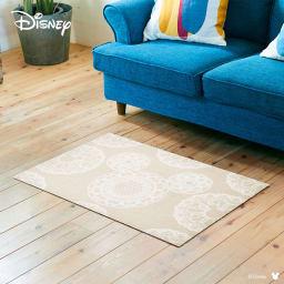 ミッキー/玄関マット レース 60×90cm|Disney(ディズニー) (ア)ベージュ