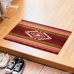ミッキー/玄関マット キリム 50×75cm|Disney(ディズニー) (イ)レッド