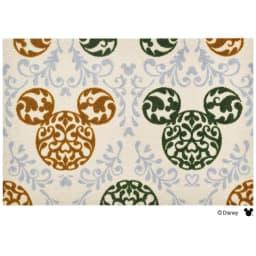 ミッキー/玄関マット ロココ調 60×90cm|Disney(ディズニー) (ア)グリーン