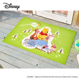 Pooh(くまのプーさん)/玄関マット 75×120cm Disney(ディズニー) (エ)プー&フレンズ