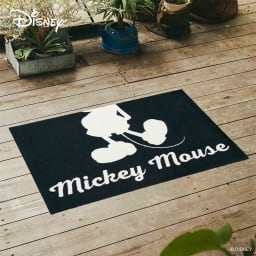 玄関マット Mickey/ミッキー シルエット 60×90cm[Disney/ディズニー] (ア)ホワイト
