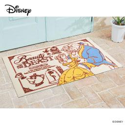 美女と野獣/玄関マット 75×120cm|Disney(ディズニー) (ア)美女と野獣