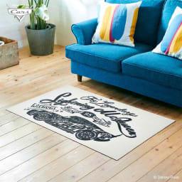 Cars(カーズ)/玄関マット マックイーン モノクロ 75×120cm Disney(ディズニー)