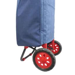 moz(モズ)/ショッピングキャリーバッグ|エルク やわらかめなタイヤでスムーズかつ静かに動きます。大きめのタイヤで移動も楽々。