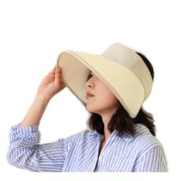 オリハラスタイル/折りたたみ式軽量UVサンバイザ- (ア)着用イメージ