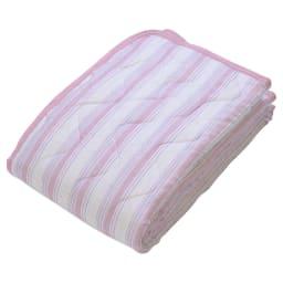 京都西川/抗菌防臭生地使用敷きパッド (ア)ピンク