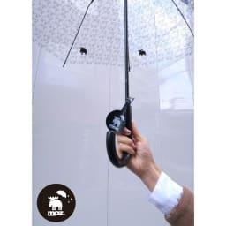 moz(モズ)/ビニール傘|エルク エルクチャーム付き