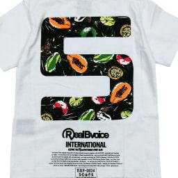 RealBvoice(リアルビーボイス)/キッズ ボタニカル柄Tシャツ(100-160cm) (ア)ホワイト/Backプリント