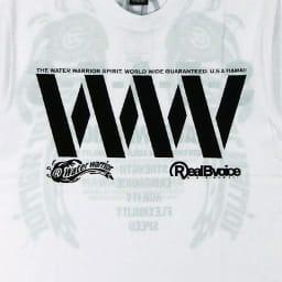 RealBvoice(リアルビーボイス)/WWメンズ透かしTシャツ (イ)ホワイトグリーン/Frontロゴ
