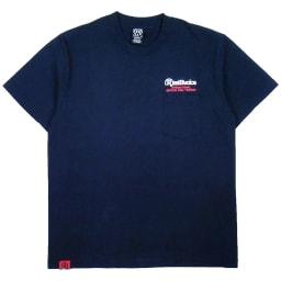 RealBvoice(リアルビーボイス)/バックプリントメンズポケットTシャツ (イ)ネイビー/Front
