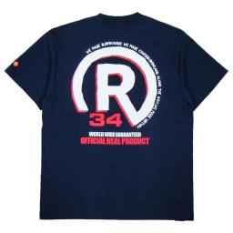 RealBvoice(リアルビーボイス)/バックプリントメンズポケットTシャツ (イ)ネイビー/Back