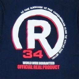RealBvoice(リアルビーボイス)/バックプリントメンズポケットTシャツ (イ)ネイビー/Backロゴプリント