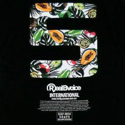 RealBvoice(リアルビーボイス)/フルーツ メンズTシャツ (イ)ブラックフルーツ/Backプリント