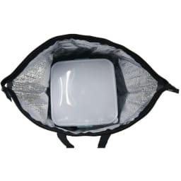 moz(モズ)/保冷トート付き3段ランチボックス エルク 内装はアルミ蒸着仕様で保冷・保温に対応しています