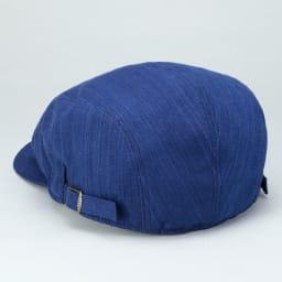 小島屋×ORIHARA STYLE(オリハラスタイル)武州正藍染/青縞模様のハンチングキャップ