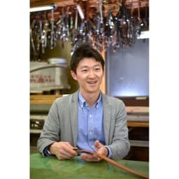 長沢ベルト/姫路ヌバックレザーベルト 社長写真