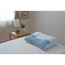 西川京都/日本製 頸椎支持型 高さ自在枕 (イ)ブルー