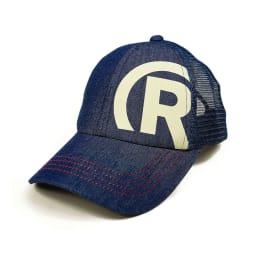RealBvoice(リアルビーボイス)/キッズ R-MARK キャップ (イ)ネイビー