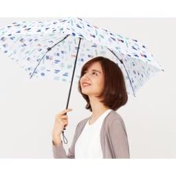 moz(モズ)/UVカット折り畳み傘 フォレストデザイン モデル使用…(ア)フォレストホワイト