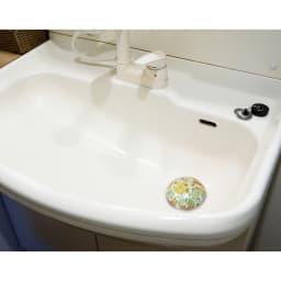 有田焼の排水口カバー アンブレラ 使用例…(ウ)フラワー