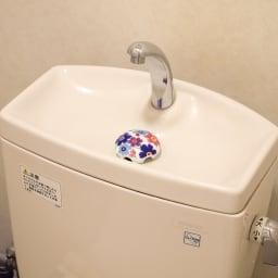 有田焼の排水口カバー アンブレラ 使用例…(エ)ポピー