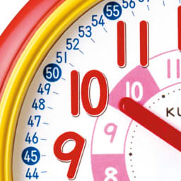 くもん/スタディめざまし|知育玩具 「時」は赤い針が指す赤い数字を読みます。