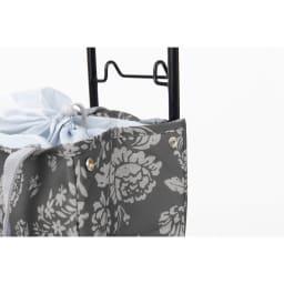 cocoro(コ・コロ)/ショッピングトートカート Florian サイドにスナップが付いているので、荷物が少ない時はコンパクトにできます