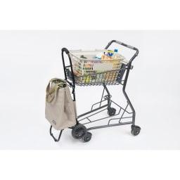 cocoro(コ・コロ)/ショッピングトートカート TOTE スーパーのカートに掛けられるフック付き※カートの形状によっては掛けられない場合もあります