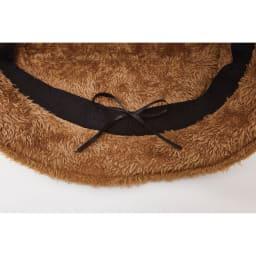 COGIT(コジット)/ボアコーデュロイ帽子 後頭部の紐でサイズ調整可能