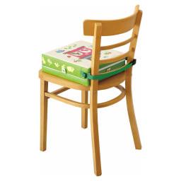 COGIT(コジット)/高さが変わるお食事クッション(ハウス) ベルトで椅子に固定