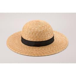 田中帽子店/麦わら つば広帽子 丸型 ローサ